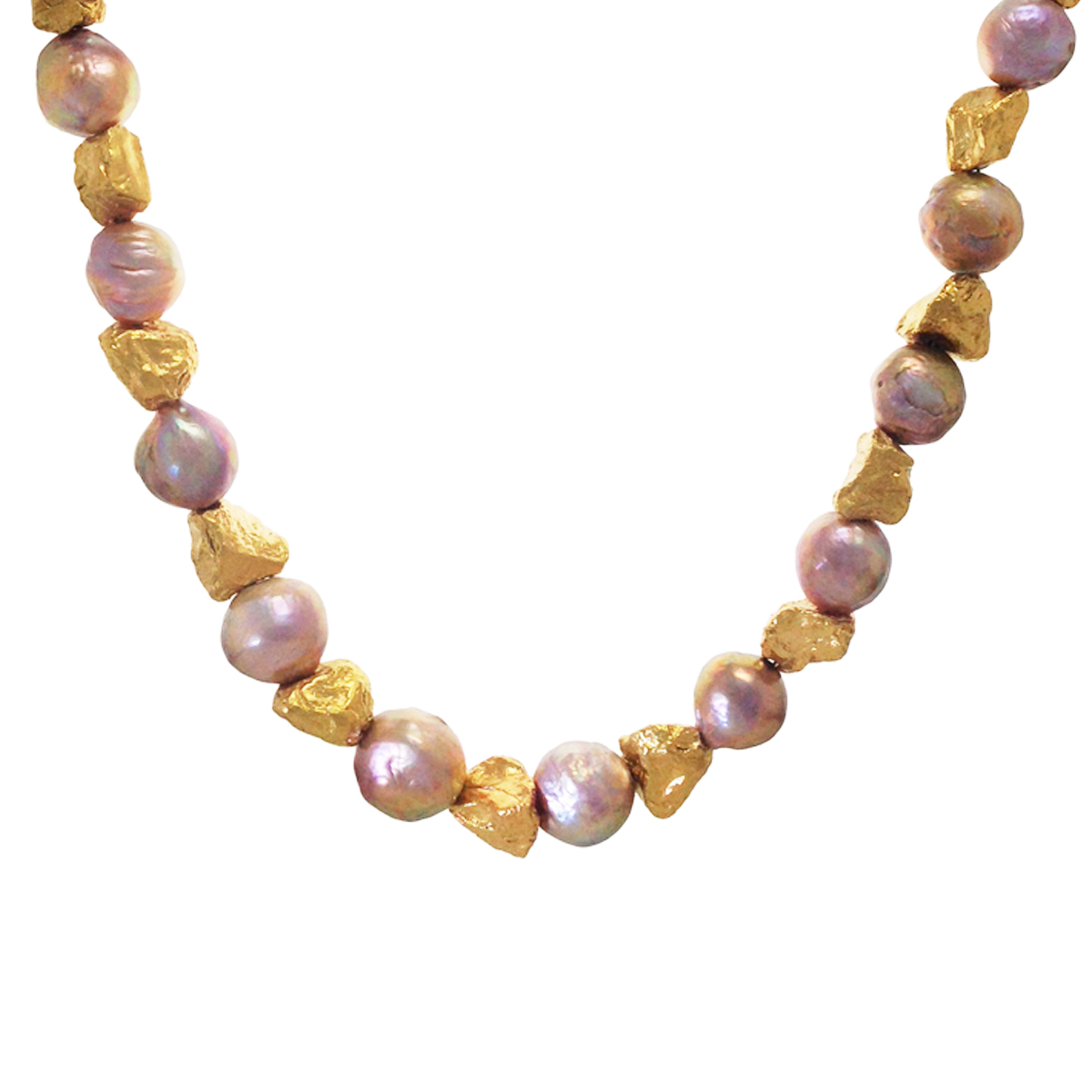 Boulder river pearl gold plated necklace