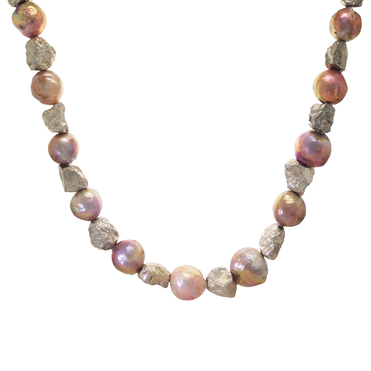 Boulder silver river pearl necklace