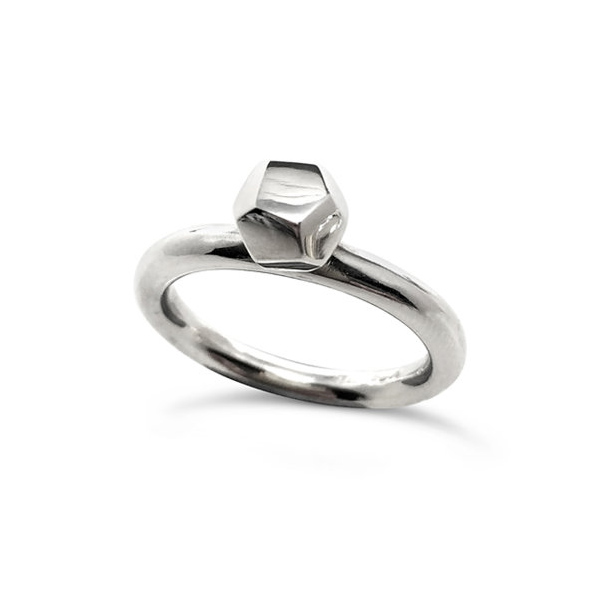 Decca ring silver 6mm