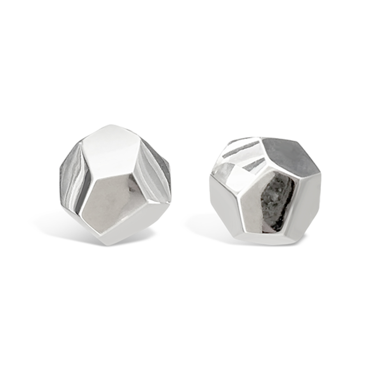 Decca Earrings Silver 8mm