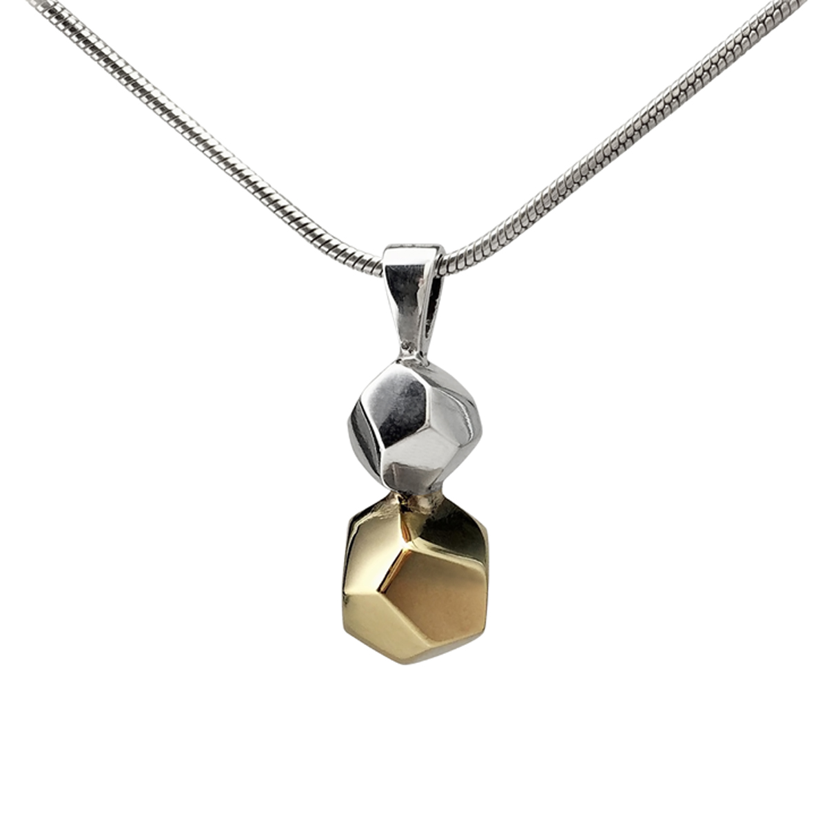 Decca silver and 9ct gold pendant