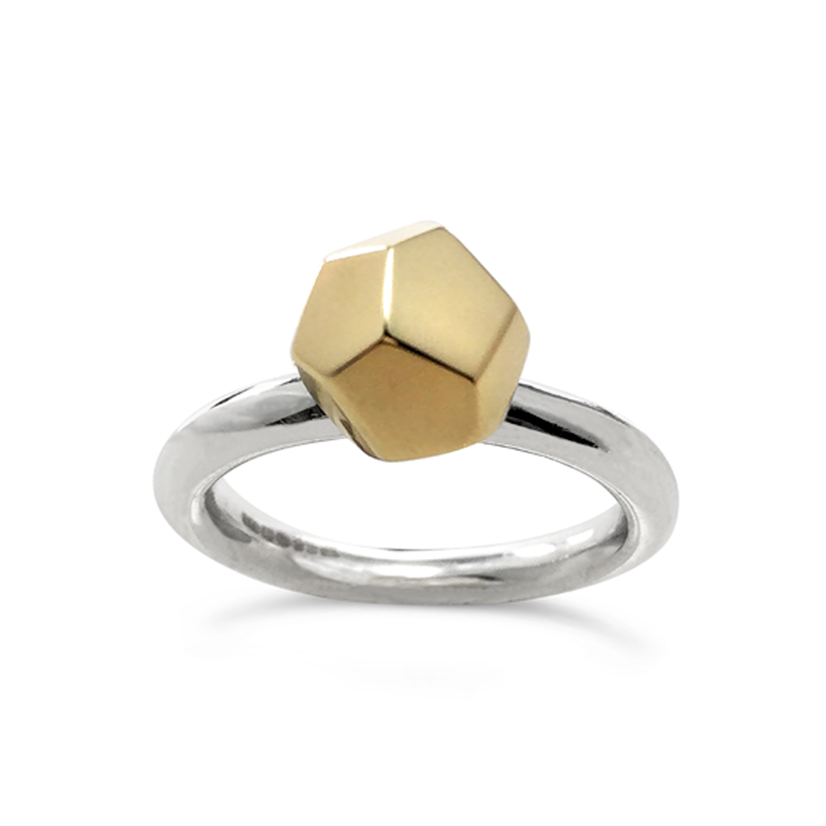 Decca ring 9ct gold and silver