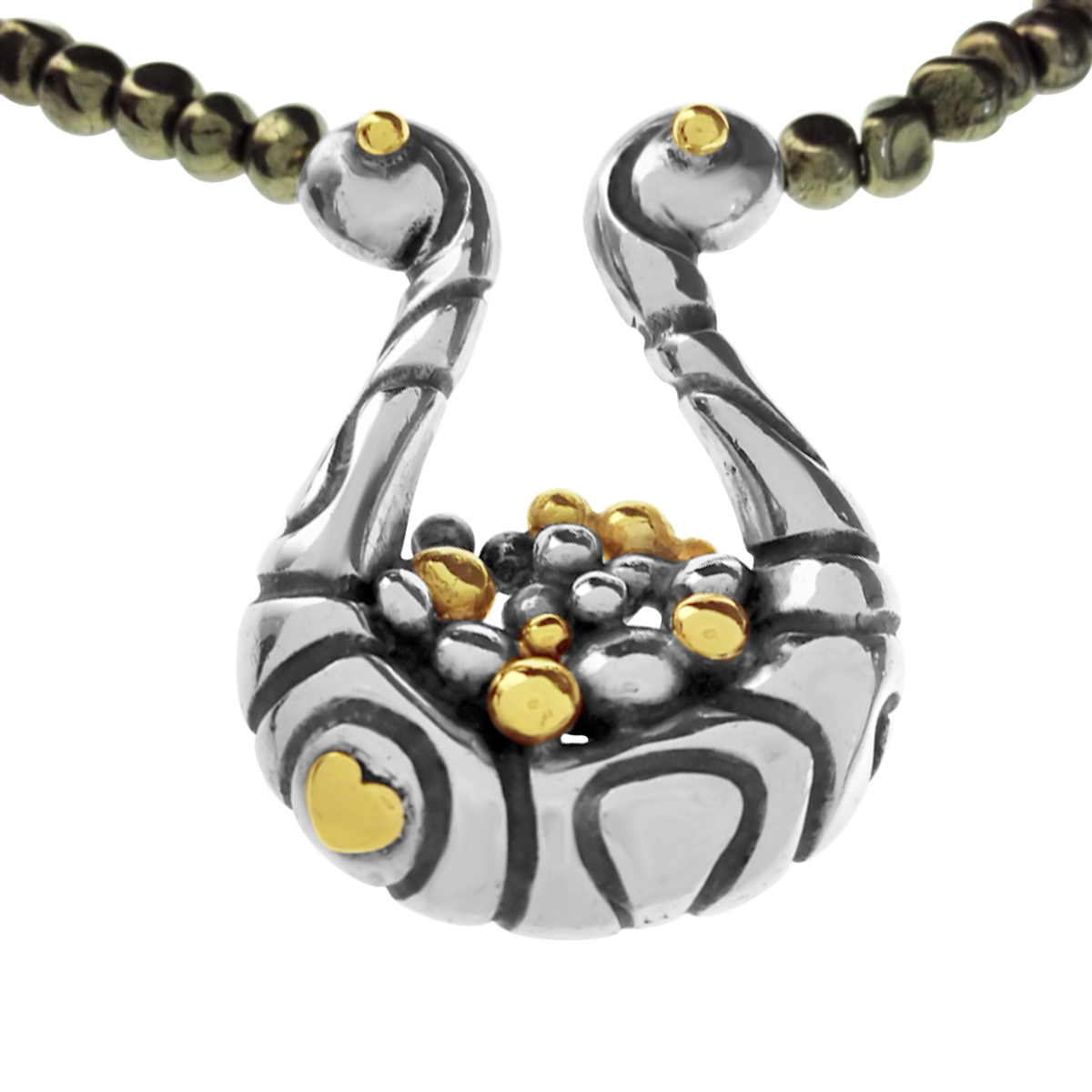 Molecule cradle necklace