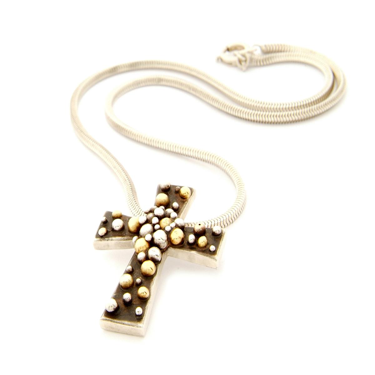 Molecule sunburst crucifix