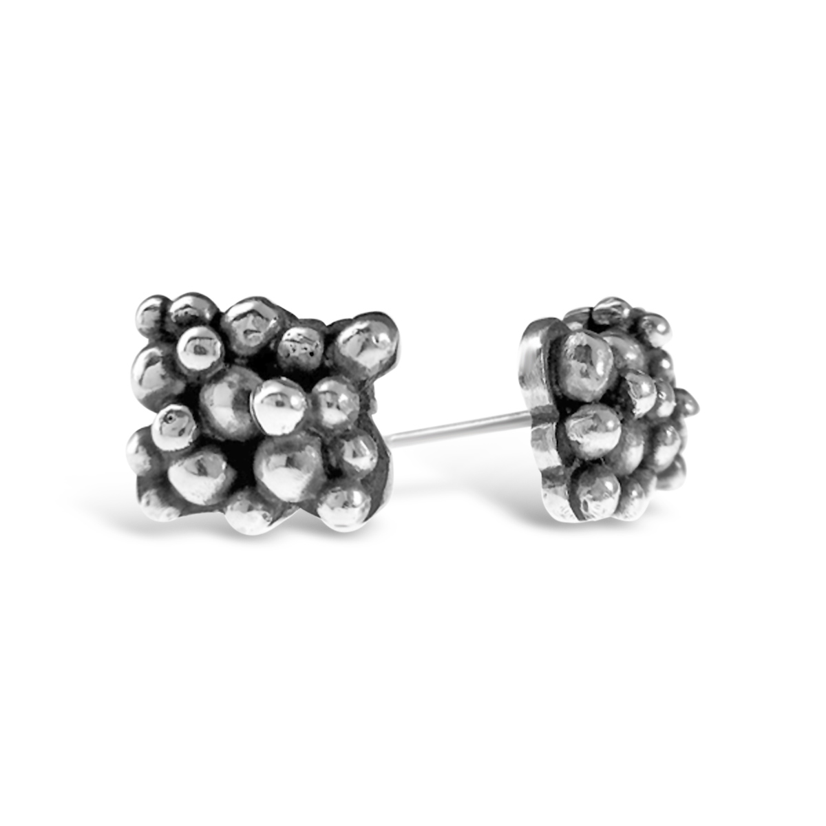 Molecule silver earrings