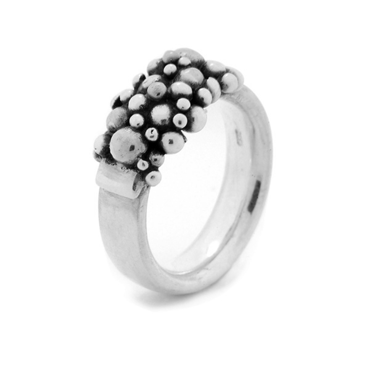 Molecule semi ring silver