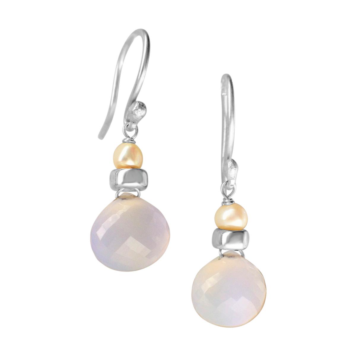Perfume Bottle chalcedony earrings