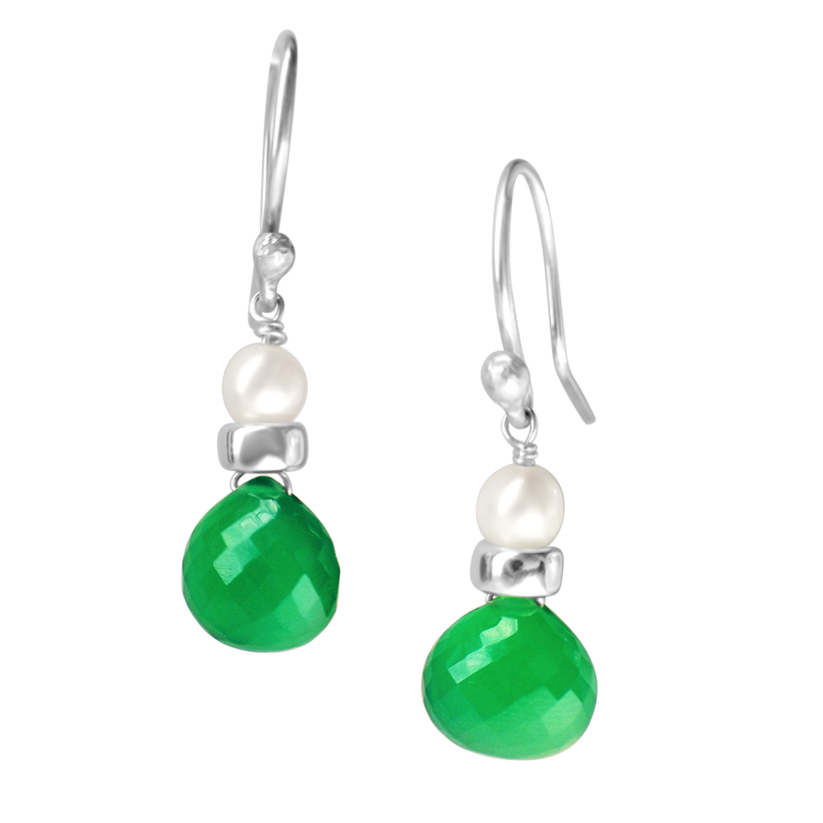 Perfume Bottle green onyx earrings