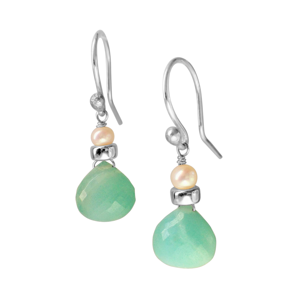 Perfume Bottle amazonite earrings