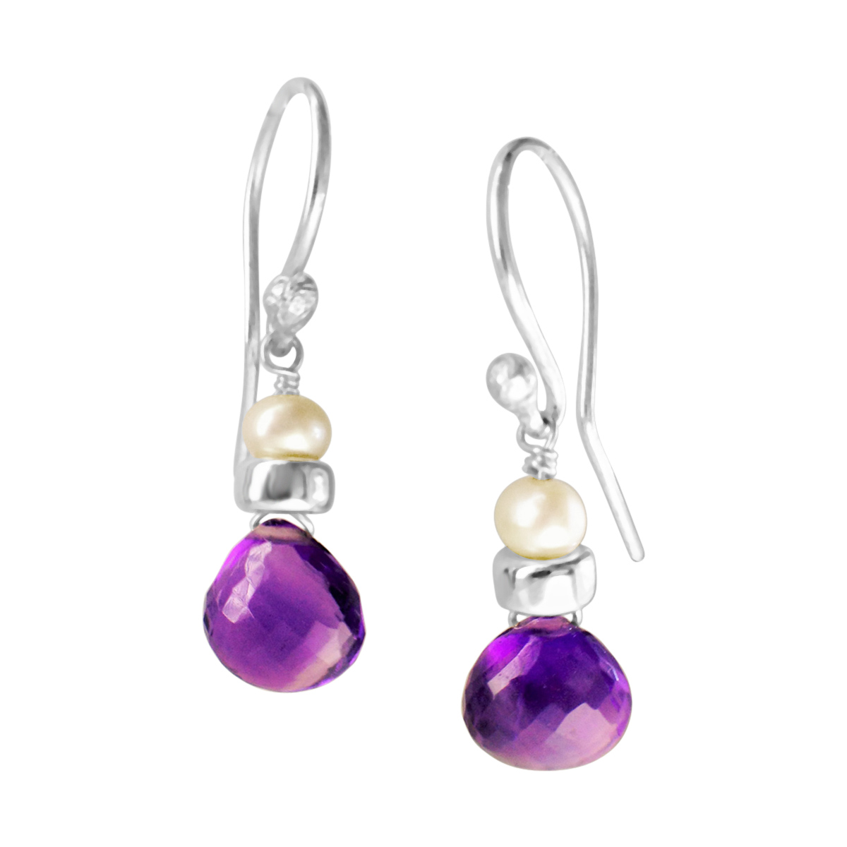 Perfume Bottle amethyst earrings