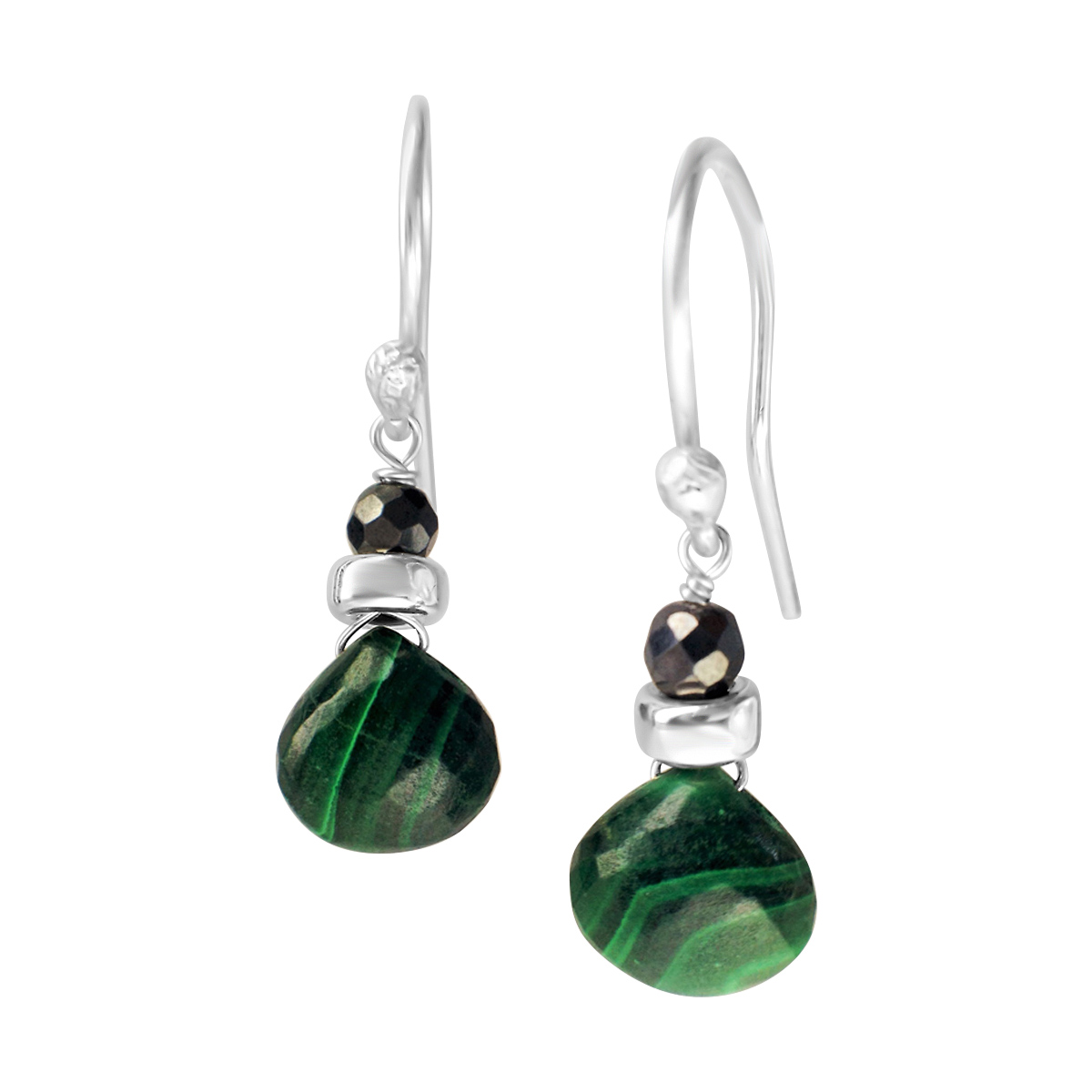 Perfume Bottle malachite earrings
