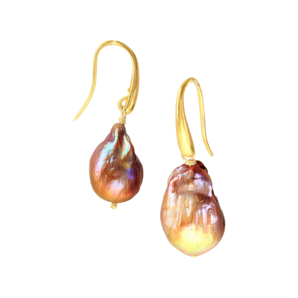 River Pearl earrings gold