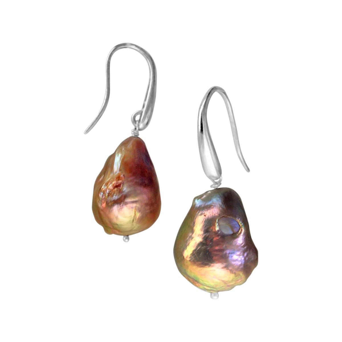 River Pearl earrings silver