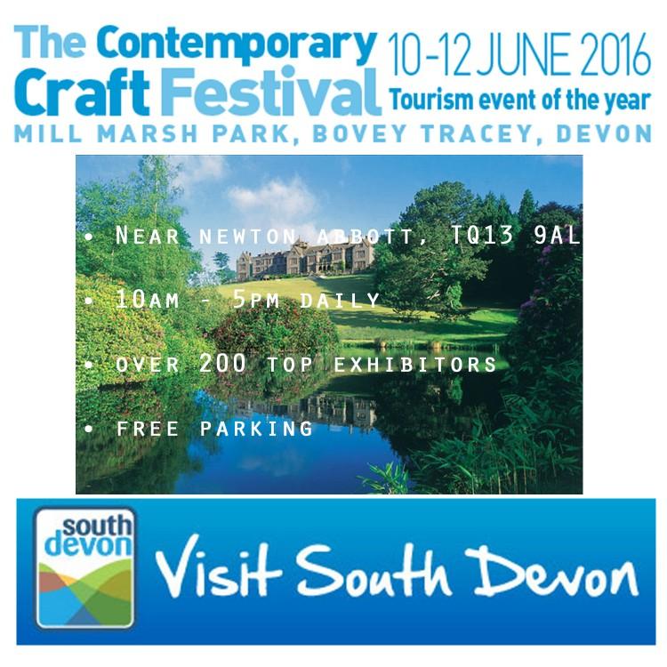 The Contemporary Craft Festival Bovey Tracey Devon.